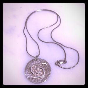 Jewelry - Sterling silver necklace handmade with charm